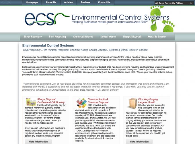 ECS Cares - Barrie Website Design | Media Suite Inc