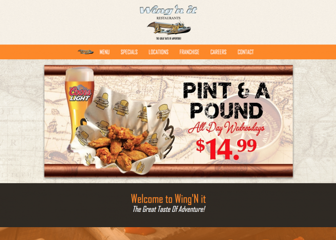 Wing N It Canada Wide Wing Restaurant Website Project