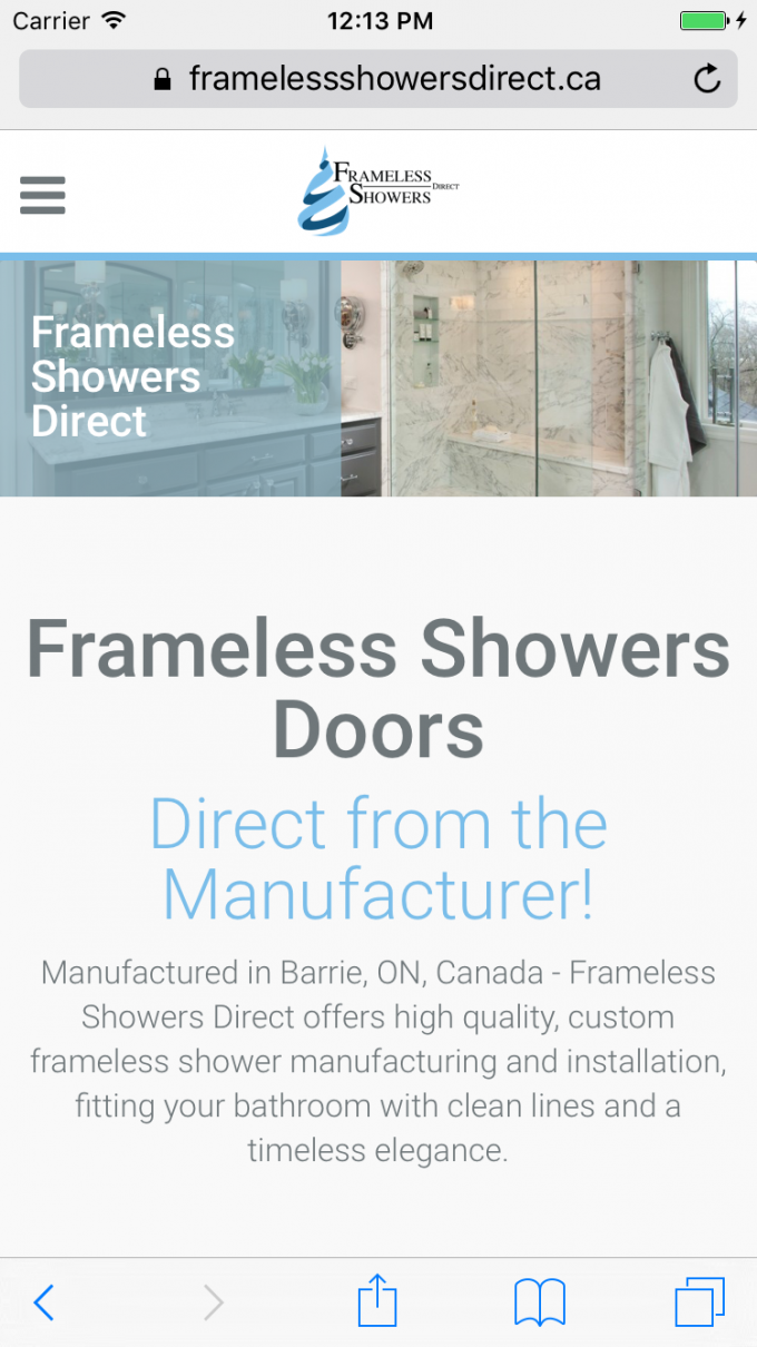 Bathroom showers direct - A Great Looking Website On Desktop And Mobile Devices