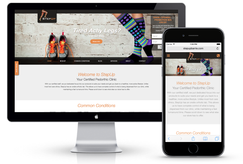 StepUp Barrie - Barrie Website Project | Media Suite Inc