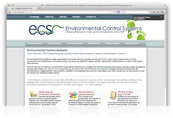 Environmental Control Systems Website